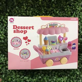 [Rẻ Vô Địch] Xe Đẩy Bán Kem Mini – Sweet Shop