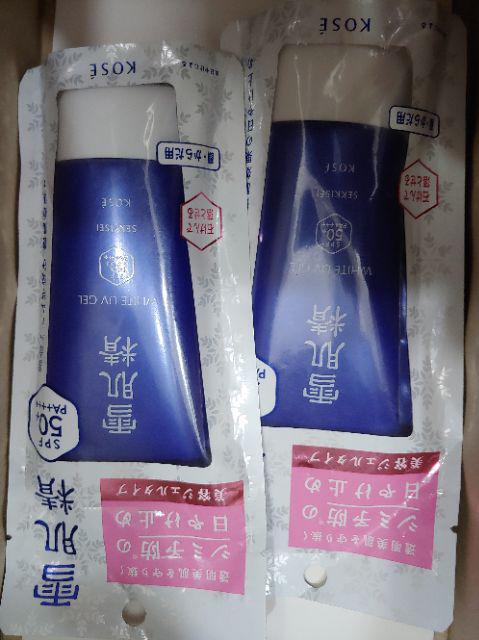 Đánh giá sản phẩm Kem chống nắng Kose Sekkisei UV White Gel 80g của hoangthuhiendk