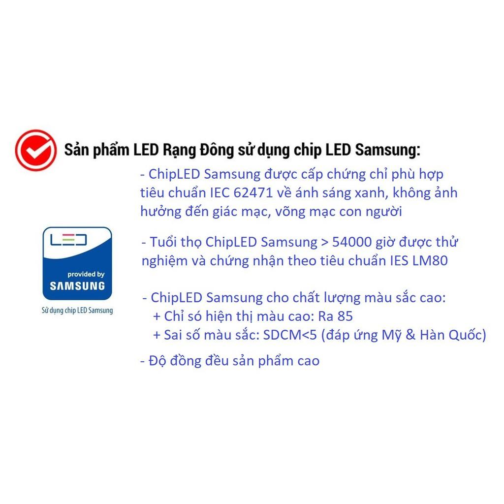 [CHÍNH HÃNG] Bóng đèn LED kẹp bình ắc quy 12V - 24V DC 7W / 9W /12W Rạng Đông