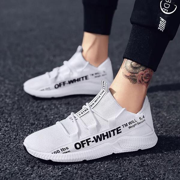 Giày Sneaker Nam Cao Cấp 2019 Off White Cá Tính -dg28