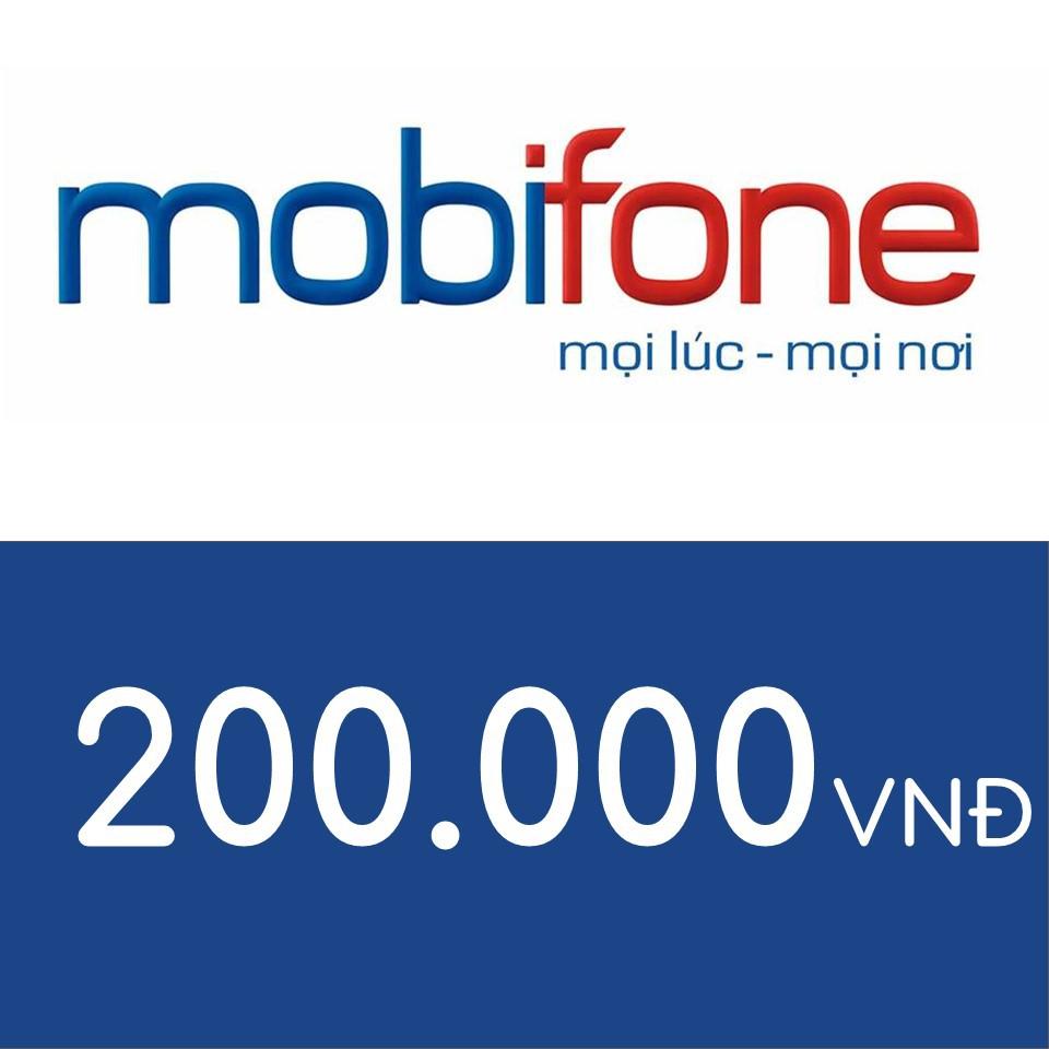 Nạp điện thoại Mobifone 200K