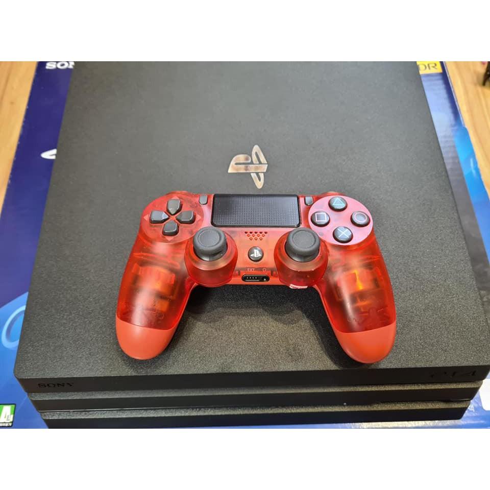 Máy PS4 Pro 1TB kèm tay đỏ trong suốt
