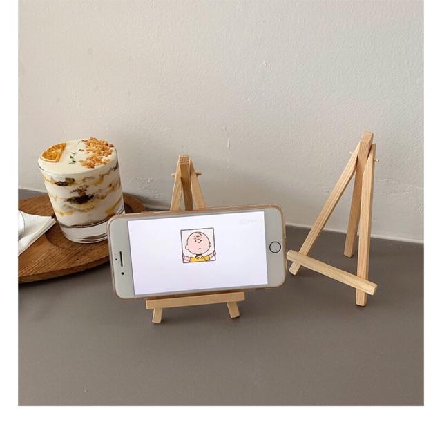 Giá đỡ chữ A để điện thoại, ảnh, card nhỏ gọn, tiện lợi, Giá đỡ bằng gỗ trang trí - Decor Fancy