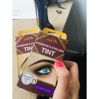 Thuốc nhuộm lông mày, lông mi Joanna Light Brown Eyebrow and Eyelash Color Cream 15ml