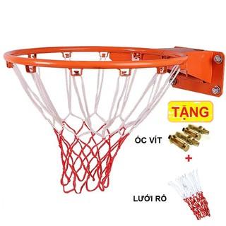 Khung vành bóng rổ TẶNG LƯỚI cho banh bóng rổ số 3,5, 6, số 7 tập luyện thi đấu sơn tĩnh điện, Hàng tốt