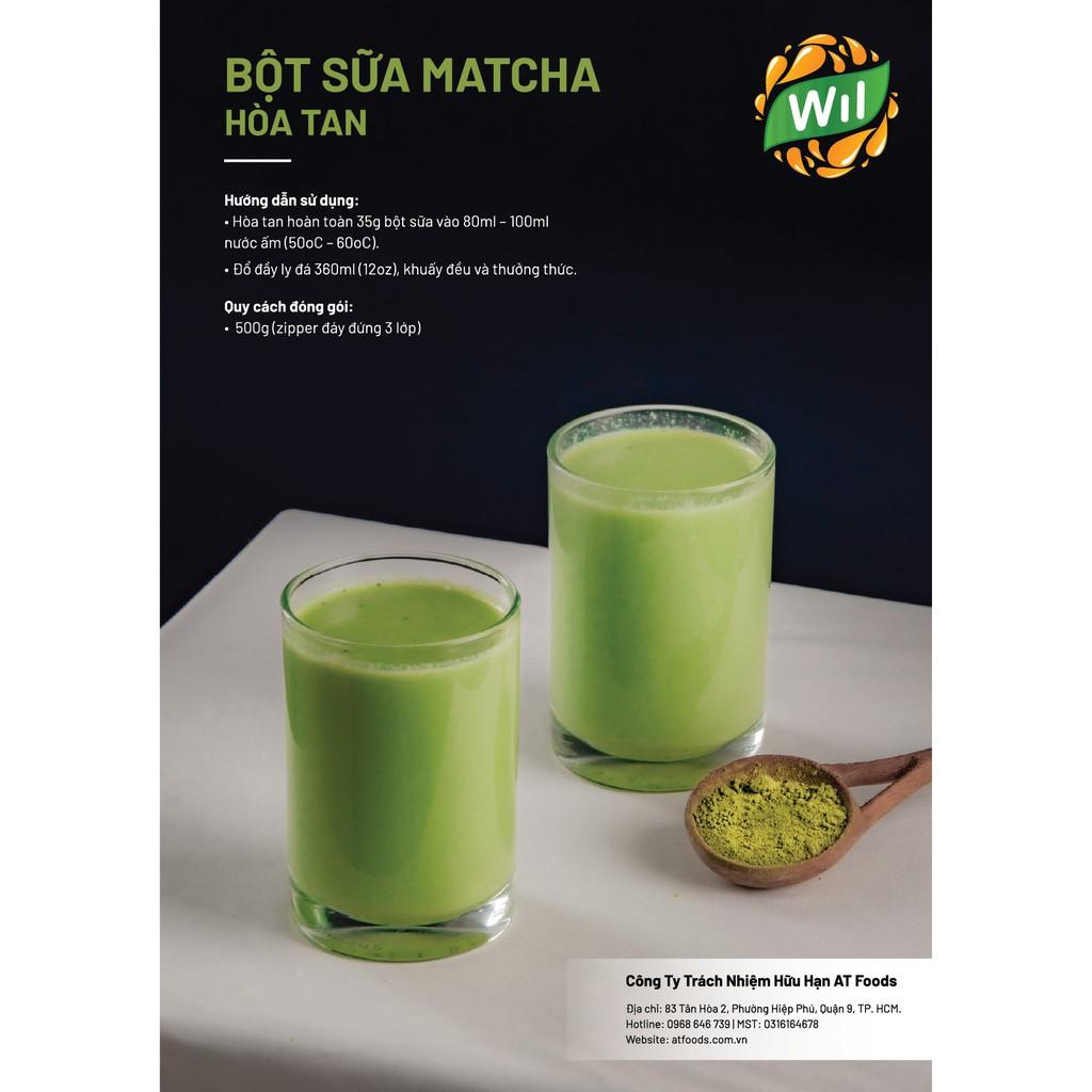 Bột sữa Matcha Wil 500g