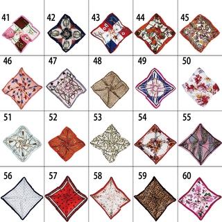 Khăn Choàng Cổ Vải Lụa Satin Hình Vuông Thanh Lịch Mới Cho Nữ 41-60 100 Màu 50cm Wj1060 5