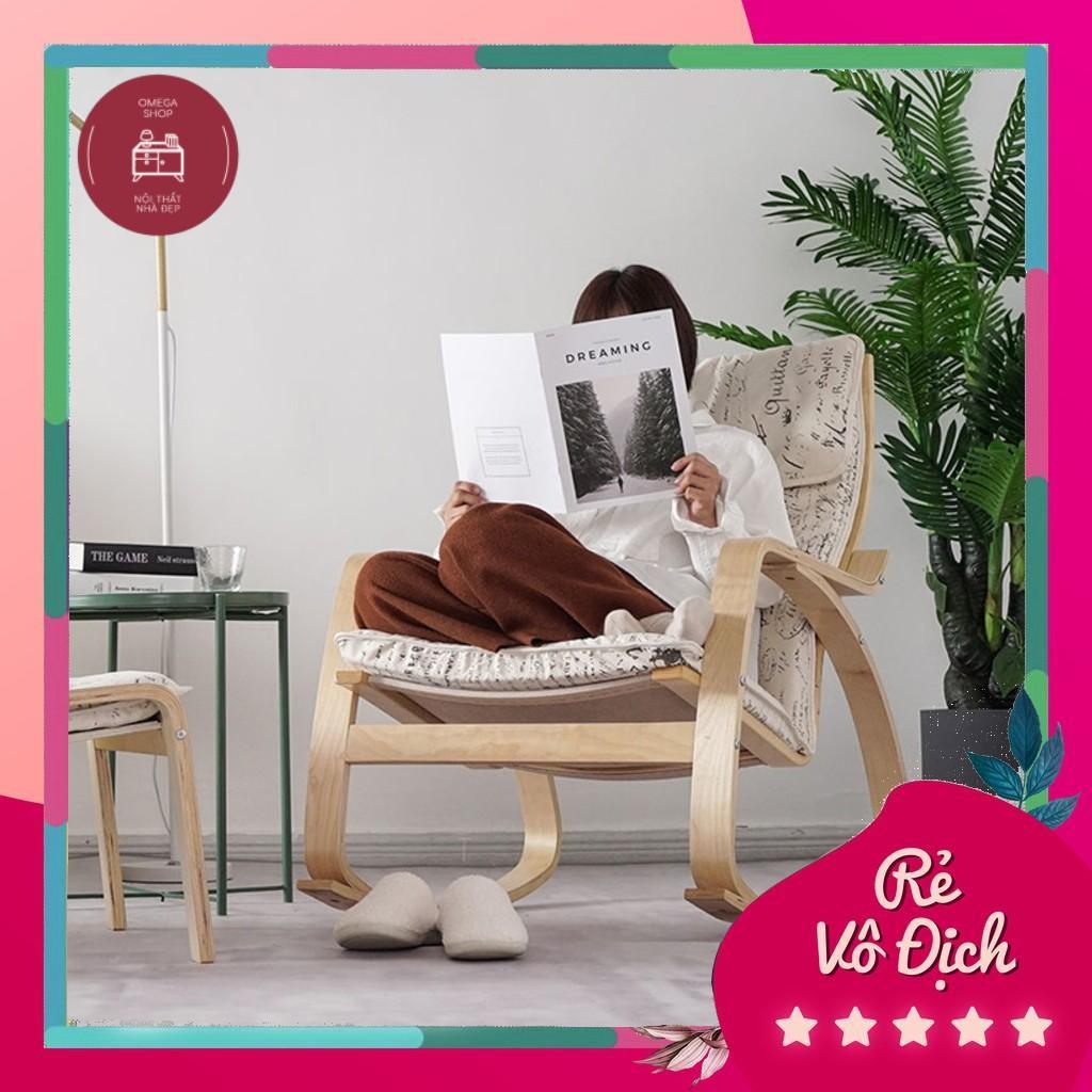Ghế poang ngắn,ghế thư giãn, đọc sách - phong cách vintag decor nội thất phòng khách