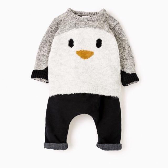 Áo len Zara xuất dư xịn hình chim cánh cụt lông cừu cho các bé siêu yêu - 2549000 , 566951803 , 322_566951803 , 220000 , Ao-len-Zara-xuat-du-xin-hinh-chim-canh-cut-long-cuu-cho-cac-be-sieu-yeu-322_566951803 , shopee.vn , Áo len Zara xuất dư xịn hình chim cánh cụt lông cừu cho các bé siêu yêu