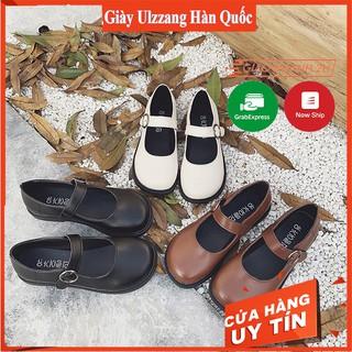Giày Mary Janes khuy tròn ba màu (form rộng, nên lùi 1 size) rẻ nhất