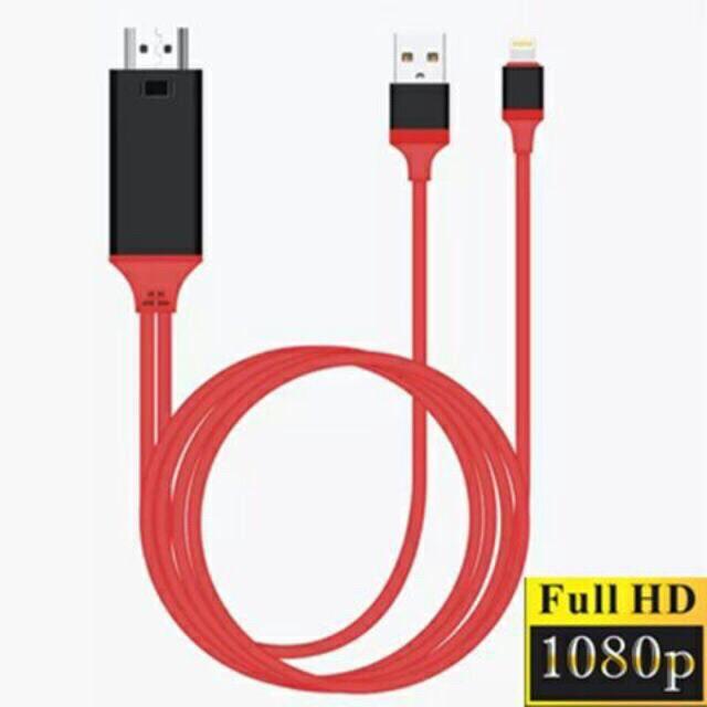 Cáp HDMII Iphone Kết Nối Điện Thoại Sang TiVi Chất Lượng FullHD