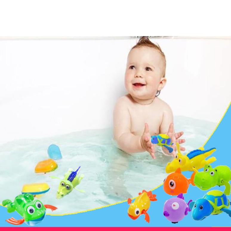 Combo 10 thú bơi dây cót thả bồn tắm cho bé