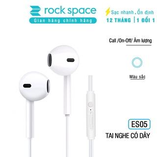 Tai nghe nhét tai có dây Rockspace ES05 cho iphone, samsung, Huawei, Vsmart, có mic, jack cắm 3.5 - Hàng chính hãng thumbnail