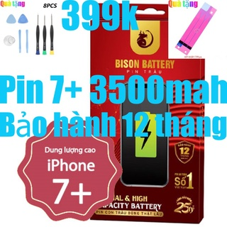 Pin iPhones 7 Plus Con Trâu dung lượng cao 3500mAh BISON chính hãng thumbnail