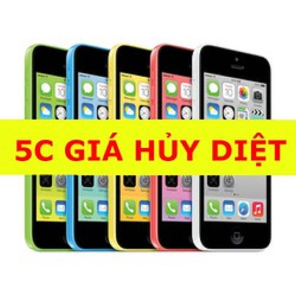 Điện thoại Iphone 5C 16G Quốc Tế - Nghe gọi-zalo-FB-Youtube chơi game mượt