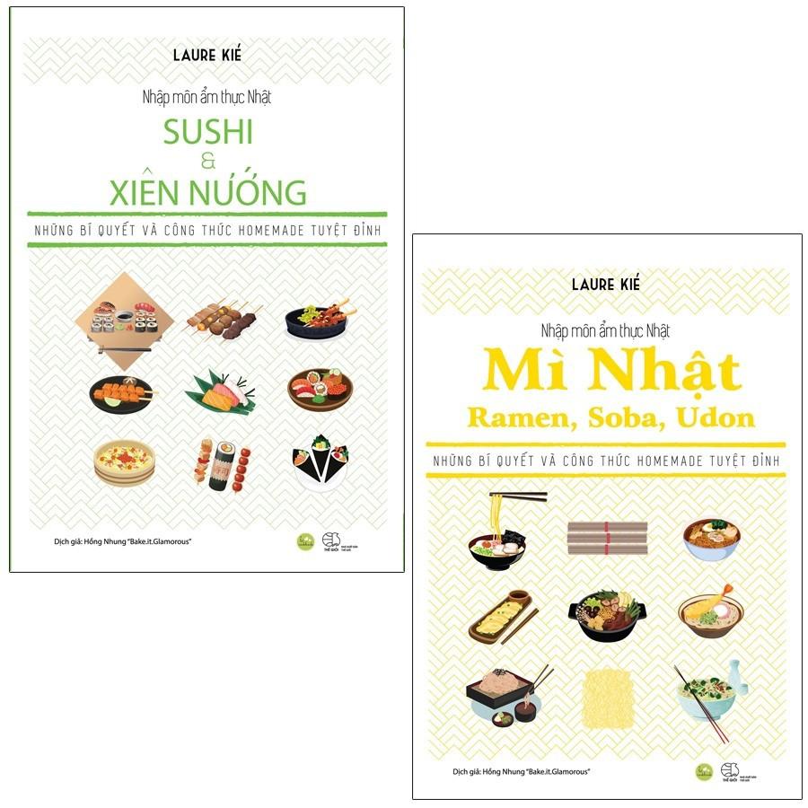 [ Sách ] Combo Nhập Môn Ẩm Thực Nhật - Mỳ Nhật Ramen, Soba, Udon - Shushi Và Xiên Nướng