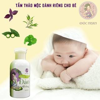 Sữa tắm cho bé, ngừa rôm sẩy Ả Đào Sữa tắm em bé mướp đắng thiên nhiên, thơm,MỘC NHAN 350ml handmade 5