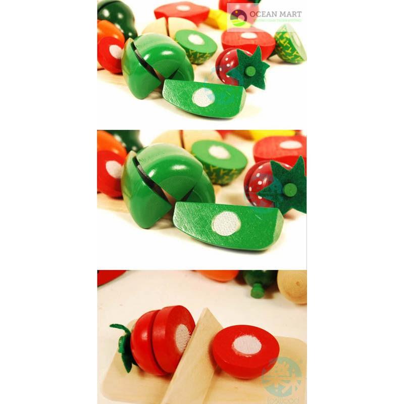[Siêu Rẻ] Bồ đồ chơi cắt hoa quả gỗ