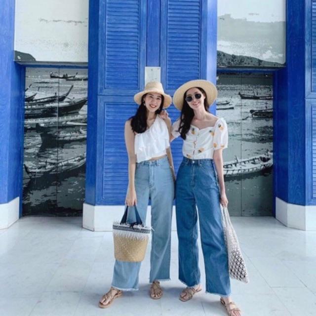 Quần jeans ống rộng- QUẦN QUỐC DÂN