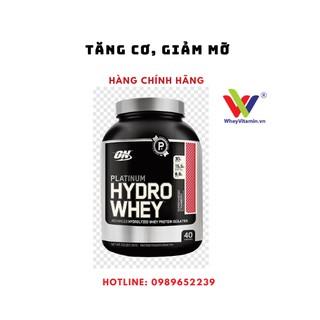 Sữa Tăng Cơ Tinh Khiết Platium ON HYDROWHEY- TUBRO 3.5LBS Chocolate – 1.59 KG -Tăng cơ, giảm mỡ cho người tập GYM