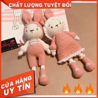 [GẤU BÔNG AN TOÀN CHO BÉ ]Thỏ MIMI và MITI màu hồng – gấu bông handmade – quà tặng ý nghĩa – an toàn cho bé