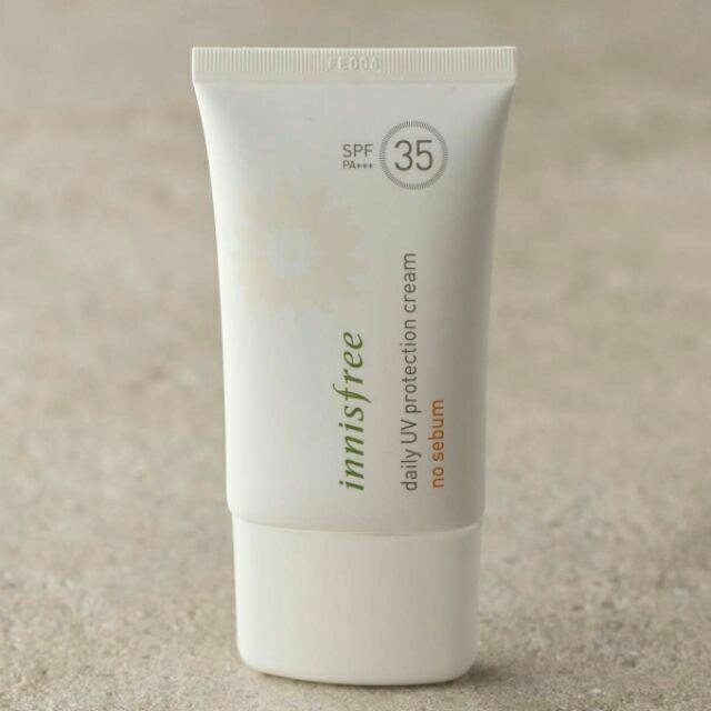 Kem Chống Nắng Innisfree daily UV protection cream no sebum spf 35+++