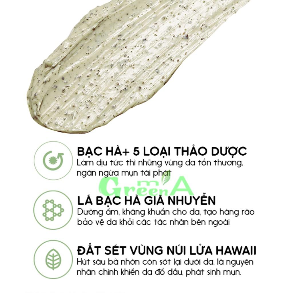 Mặt Nạ Đất Sét RE:P Bạc Hà Hương Thảo Cấp Ẩm Se Khít Lỗ Chân Lông 130G RE:P BIO FRESH MASK WITH REAL NUTRITION HERBS