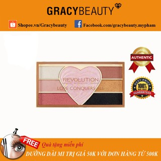 Bảng phấn mắt kèm highlight Makeup Revolution Love Conquers thumbnail