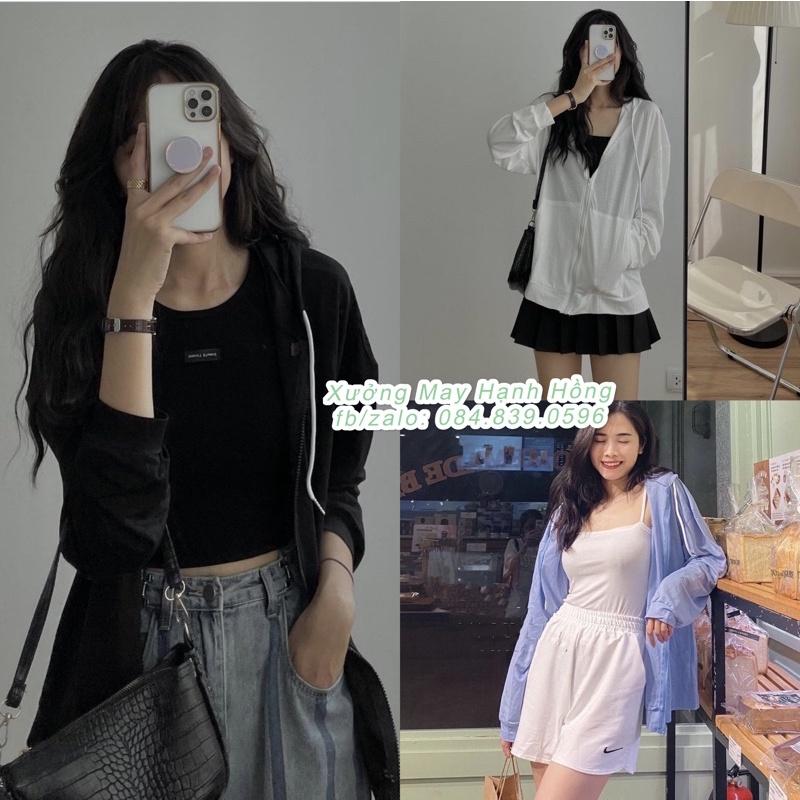 Áo khoác ngoài hoodie nữ thu đông kiểu dáng hàn quốc - Xưởng May Hạnh Hồng