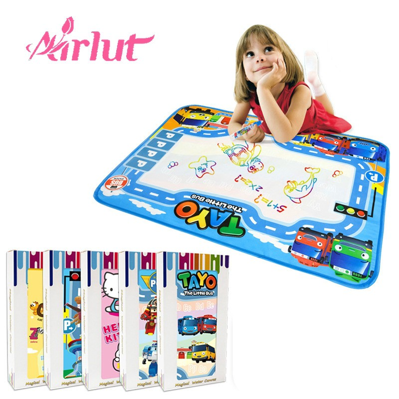 Children Magic Water Canvas Board Watercolor Baby Cartoon Early Education Toys