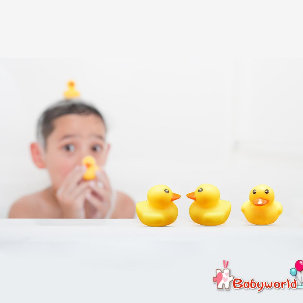 15pcs Baby Kids Shower Water BB Bathing Toys Float Animal Cute Yellow Ducks
