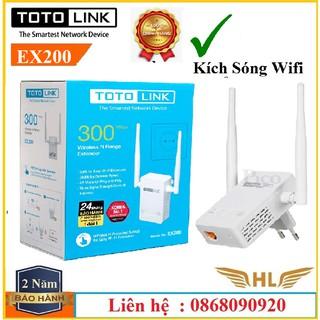 Bộ Kích Sóng wifi Totolink EX200 Chuẩn N300Mbps Có Cổng Lan -Hàng Chính Hãng