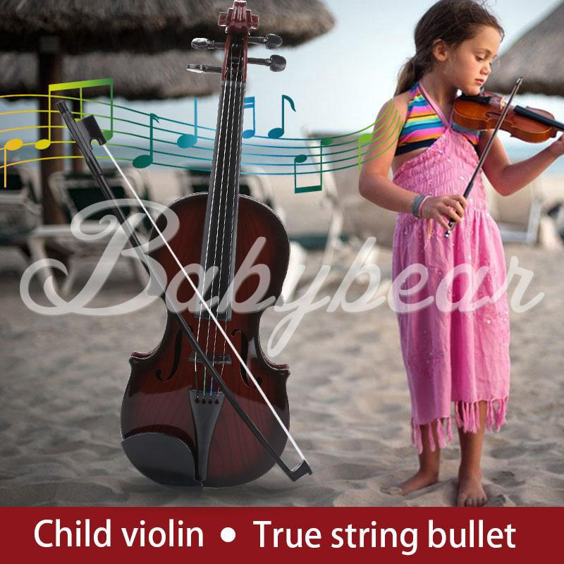Children'S Violin Kids Violin Studnets Acoustic Violin 39CM Portable Practical Toys Early Education