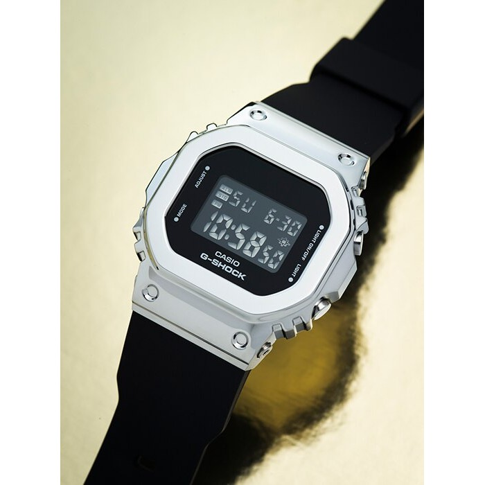 Đồng hồ casio nữ dây nhựa G-SHOCK GM-S5600-1DR chính hãng