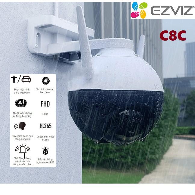 Camera IP Wifi PTZ Ngoài Trời Ezviz C8C Xoay Quét 360 Độ Full HD 1080P- Có Màu Đêm- Hàng Chính Hãng