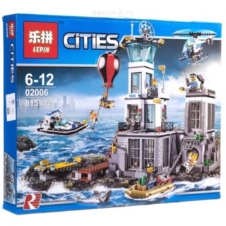 Lắp ráp lego lepin 02006 – nhà tù trên đảo và cuộc tẩu thoát