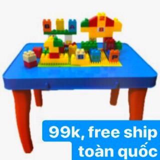 [siêu rẻ] Bộ bàn lắp ghép sáng tạo cho bé