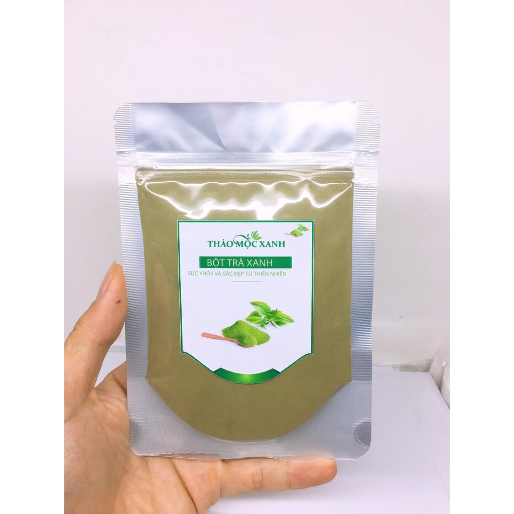Bột trà xanh nguyên chất gói 100g