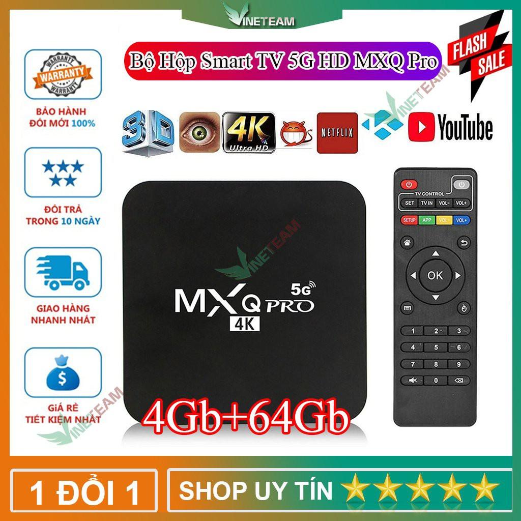 Androi TV box MXQ PRO 4K RAM 4G+64G ANDROID 10.1 MẪU MỚI 2020✔HỖ TRỢ TIẾNG VIỆT✔CÀI ĐẶT DỄ DÀNG -D