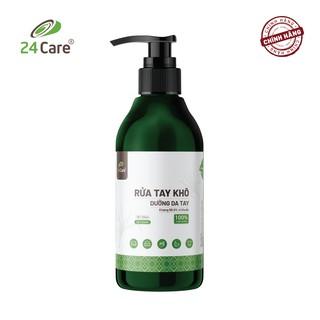 [DIỆT KHUẨN] Nước rửa tay khô tinh dầu Sả Chanh 24Care nguồn gốc thiên nhiên 300ML- diệt khuẩn 99,9%