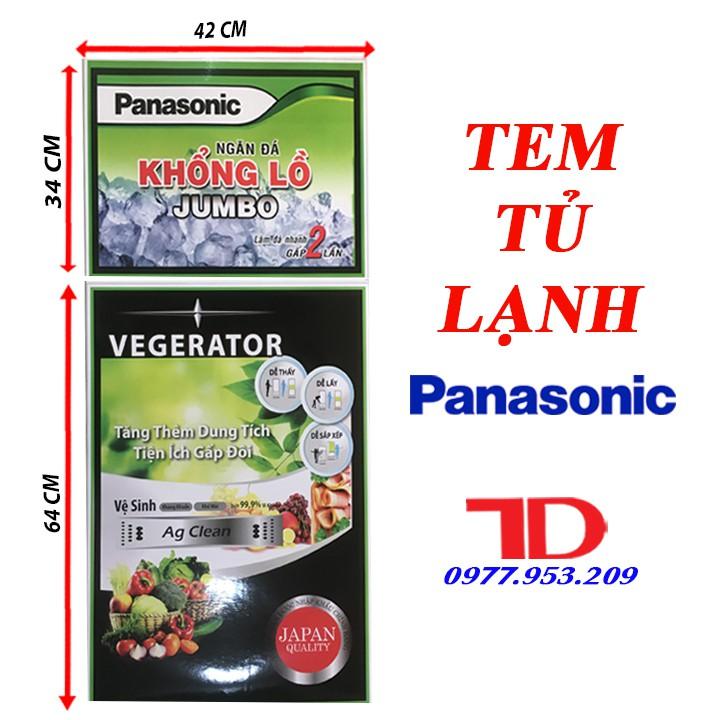 Miếng dán tủ lạnh PANASONIC, tem dán trang trí tủ lạnh PANASONIC