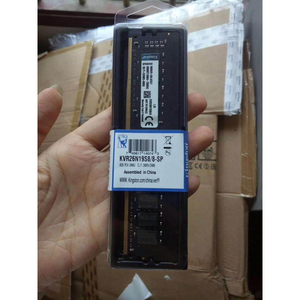 Ram PC DDR4 8gb bus 2666Mhz Kingston hàng mới 100% bảo hành 36 tháng