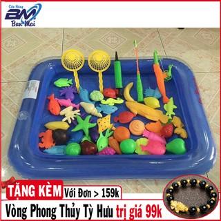 [Chất Lượng]Bể phao câu cá đồ chơi cho bé tập câu cá vui nhộn có bơm tay