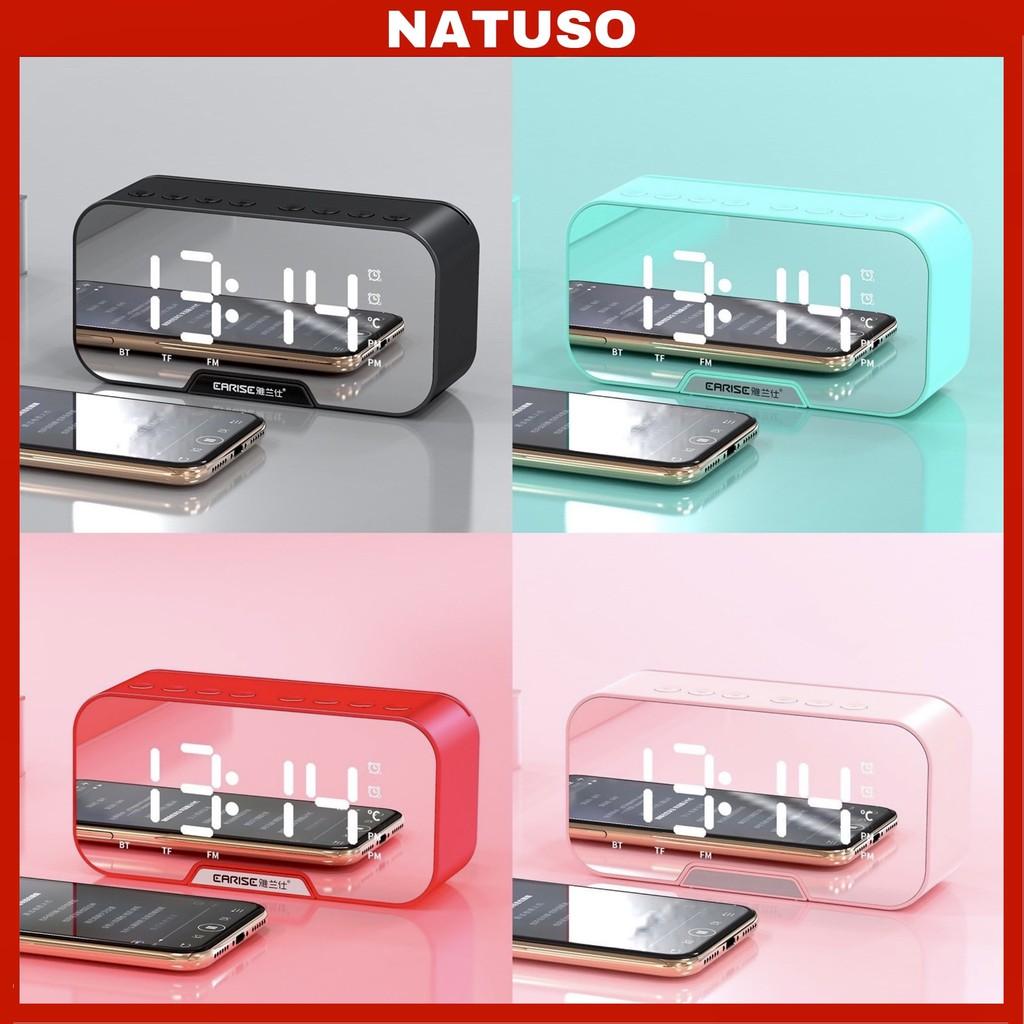 Loa bluetooth kiêm đồng hồ báo thức G10 màn hình tráng gương hiển thị đèn led nghe đài fm