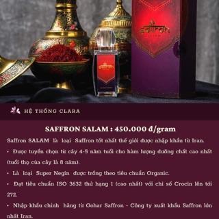Saffron Salam + 1gr bột+1 bình giữ nhiệt