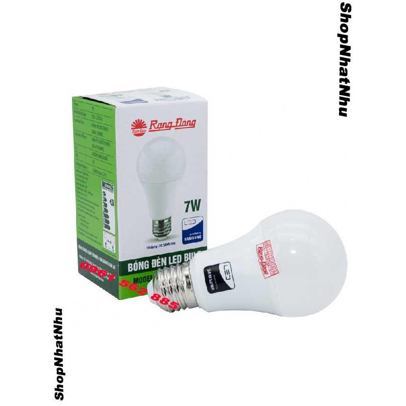 Led buld 7w Rạng Đông-Bóng đèn Led nấm 7w rạng đông chính hãng-Bảo hành 2 năm-Ánh sáng trắng
