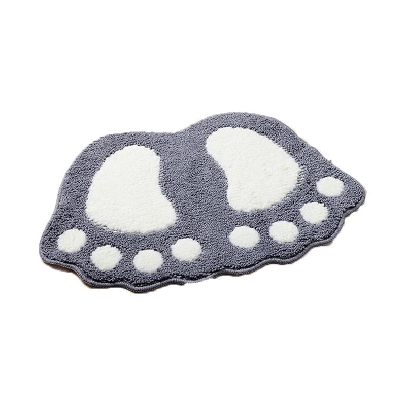 Thảm trải sàn chùi chân vải cotton phối lông chống trượt trang trí nhà cửa