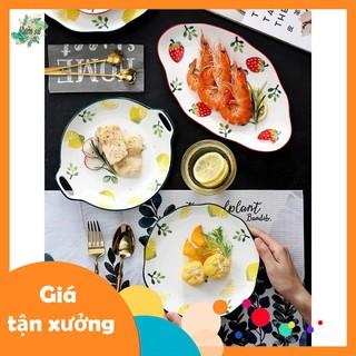 Bát sứ,đĩa sứ họa tiết chanh,dâu, bát trang trí món ăn, salad cao cấp ( BÁN LẺ ) - VS370 thumbnail