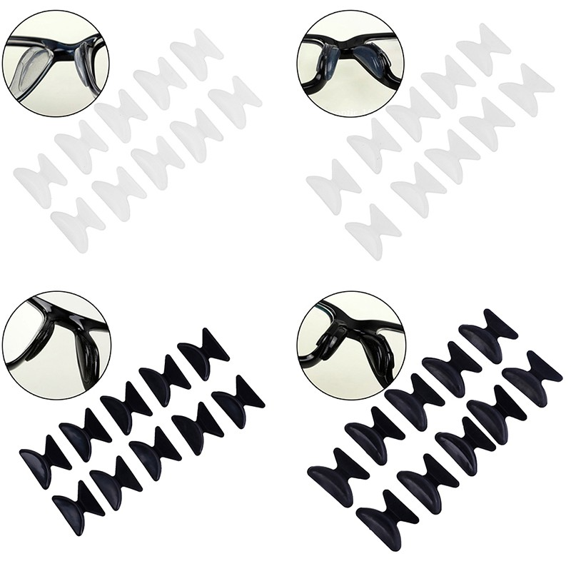 【SA】5Pairs Glasses Eyeglass Sunglass Spectacles Anti-Slip Silicone Stick On Nose Pad【VN】