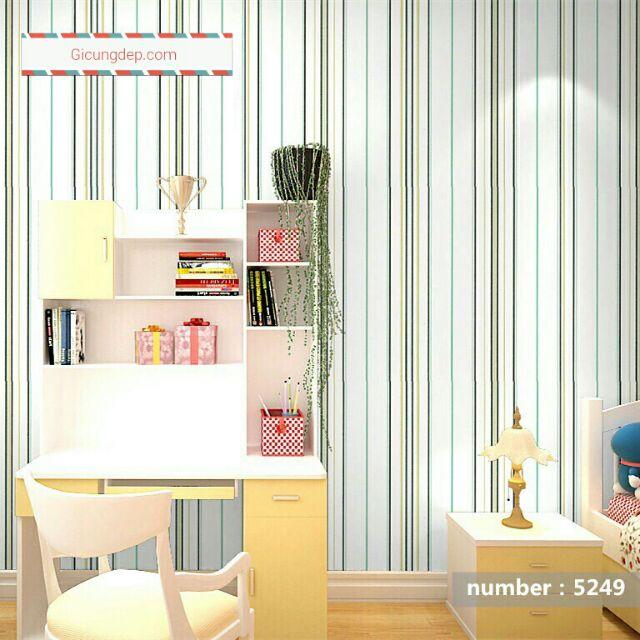 Giấy dán tường sọc trắng 5249